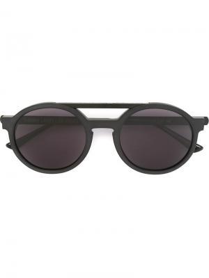 Солнцезащитные очки в круглой оправе Thierry Lasry. Цвет: чёрный