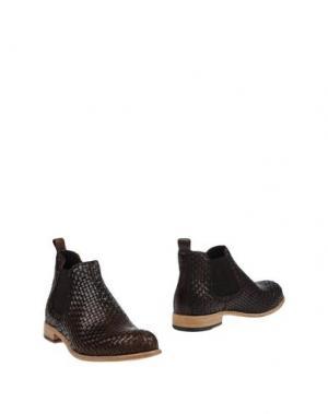 Полусапоги и высокие ботинки ERNESTO DOLANI. Цвет: темно-коричневый