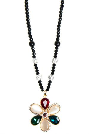 Pendant with chain BELLA ROSA. Цвет: black, red, green