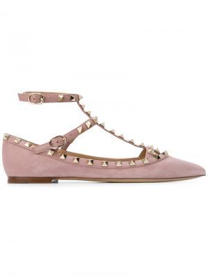Балетки Rolling  Garavani Valentino. Цвет: розовый и фиолетовый