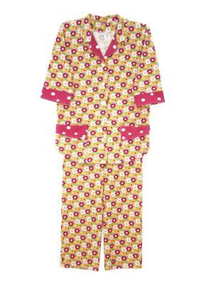 Теплая пижама Тефия. Цвет: розовый