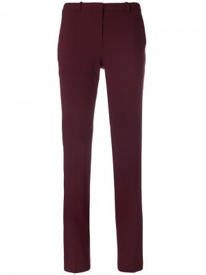 Прямые брюки Theory. Цвет: красный