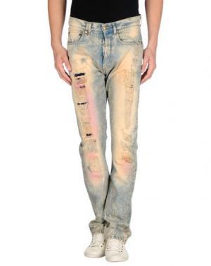 Джинсовые брюки BAD SPIRIT. Цвет: синий