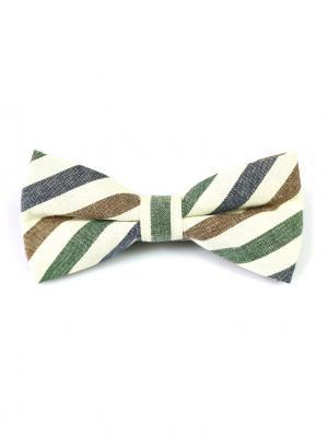 Галстук-бабочка Churchill accessories. Цвет: кремовый, белый, серый