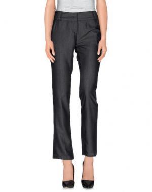 Джинсовые брюки MORGAN DE TOI. Цвет: черный