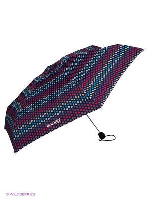 Зонты Isotoner. Цвет: бирюзовый, салатовый, фиолетовый, розовый, черный