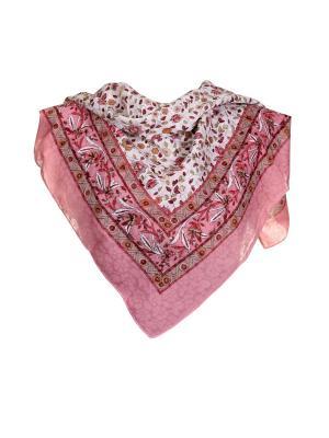 Платок Живой Шелк. Цвет: розовый, белый