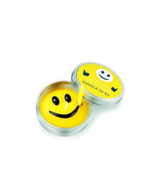Набор из 2-х свечек Keep Smiling Donkey. Цвет: желтый
