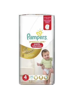 Трусики Premium Care Pants 9-14кг, размер 4, 44 шт. Pampers. Цвет: золотистый
