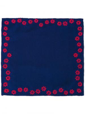 Платок паше с цветочной вышивкой Jupe By Jackie. Цвет: синий
