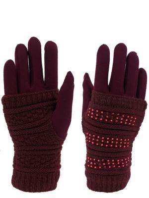 Перчатки HOBBY LINE. Цвет: бордовый