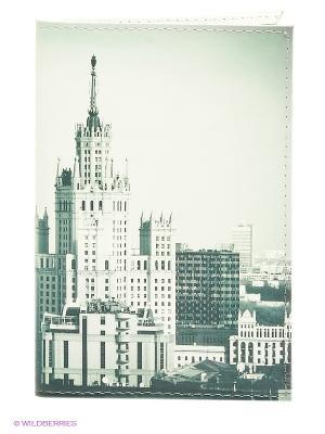 Обложка для документов Mitya Veselkov. Цвет: серо-зеленый