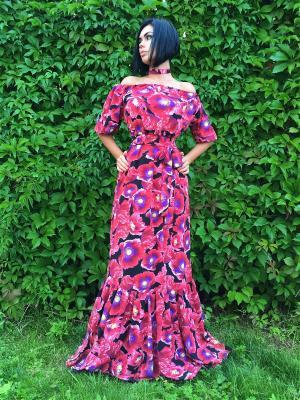 Платье в пол с открытыми плечами Firma