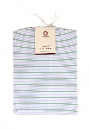 Комплект постельного белья Евро Luxberry. Цвет: разноцветный