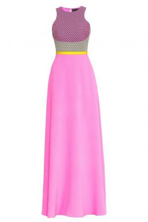 Платье из шелка 168323 Alina German. Цвет: разноцветный