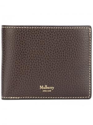 Кошелек-бумажник для карт Mulberry. Цвет: коричневый