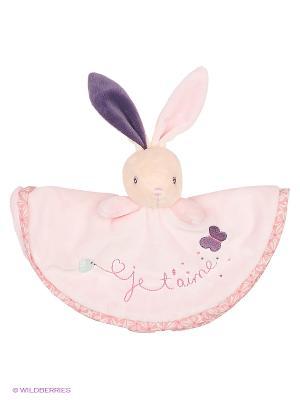 Заяц комфортер - Любовь, коллекция Розочка Kaloo. Цвет: розовый