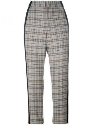 Укороченные брюки в клетку A.F.Vandevorst. Цвет: серый