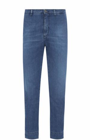 Укороченные джинсы прямого кроя 2 Men Jeans. Цвет: синий