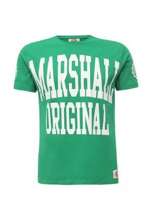 Футболка Marshall Original. Цвет: зеленый