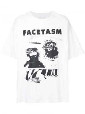 Футболка с принтом логотипа Facetasm. Цвет: белый