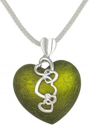 Ожерелье Модные истории. Цвет: зеленый
