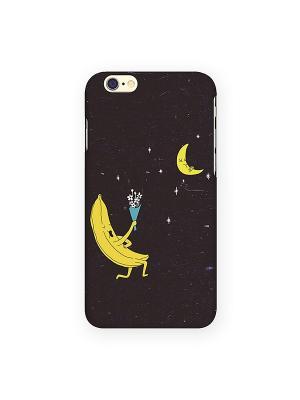 Чехол для IPhone 6 Влюбленный банан Mitya Veselkov. Цвет: черный, красный