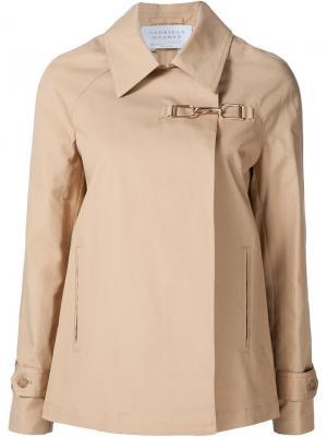 Куртка с застежкой на крючке Gabriela Hearst. Цвет: телесный
