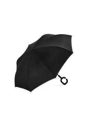 Реверсный зонт Аризона для водителей авто Signature A.P.. Цвет: розовый, черный