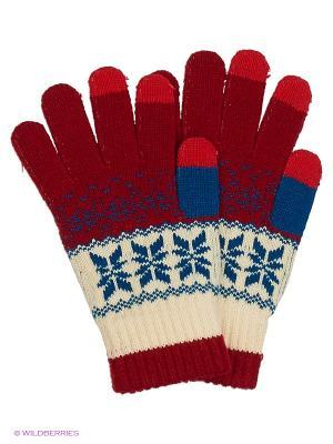 Перчатки для сенсорных экранов TERRITORY. Цвет: красный, белый
