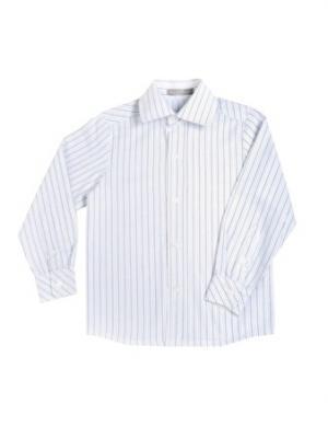 Рубашка из плотного хлопка в полоску Gioia di Mamma. Цвет: белый