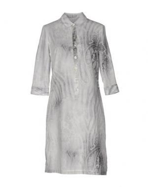 Короткое платье ZANETTI 1965. Цвет: серый