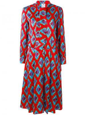 Платье с цветочным принтом Ultràchic. Цвет: красный