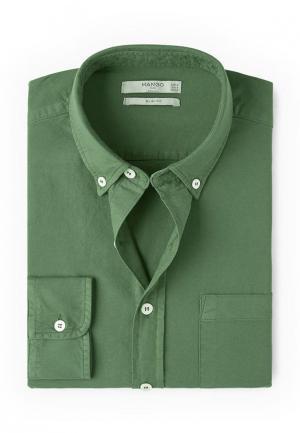 Рубашка Mango Man. Цвет: зеленый