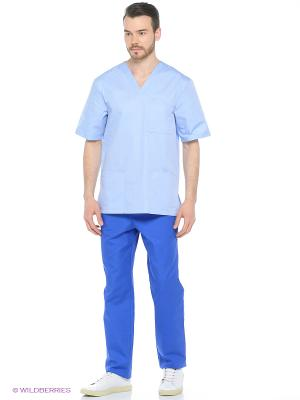 Рубашка медицинская Med Fashion Lab. Цвет: светло-голубой