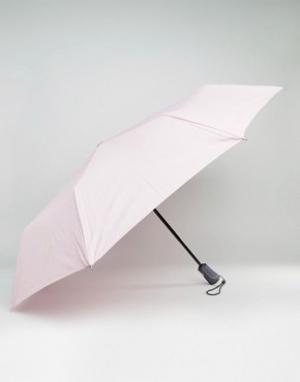Totes Ультрапрочный розовый зонт. Цвет: розовый