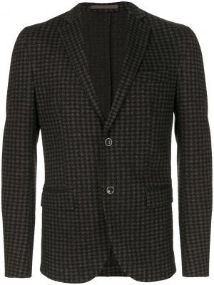 Однобортный пиджак Eleventy. Цвет: коричневый