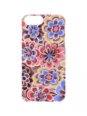 Чехол для iPhone 7Plus Цветочная абстракция  Арт. 7Plus-035 Chocopony. Цвет: голубой, розовый