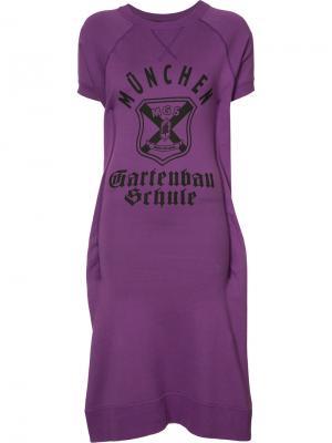 Платье-толстовка с короткими рукавами Junya Watanabe Comme Des Garçons. Цвет: розовый и фиолетовый