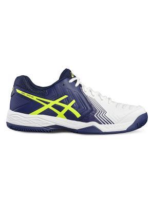 Спортивная обувь GEL-GAME 6 CLAY ASICS. Цвет: темно-синий, белый, желтый