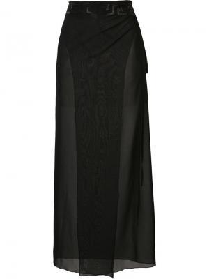 Декорированная юбка  Greek Key Versace. Цвет: чёрный