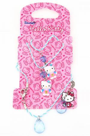 Набор бижутерии Hello Kitty. Цвет: синий