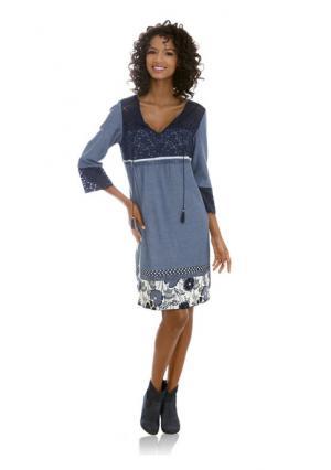 Платье Linea Tesini. Цвет: синий