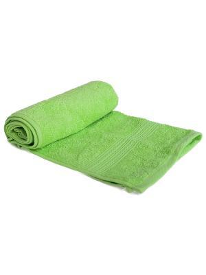 Полотенце махровое ARLONI. Цвет: салатовый