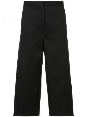 Укороченные брюки Rochas. Цвет: чёрный