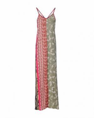 Длинное платье SAVE THE QUEEN. Цвет: зеленый-милитари