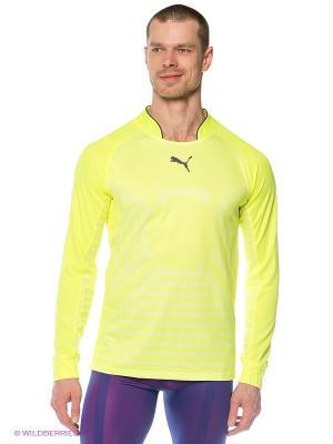Лонгслив Statement GK Shirt Puma. Цвет: желтый