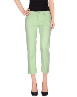 Повседневные брюки NOTIFY. Цвет: светло-зеленый