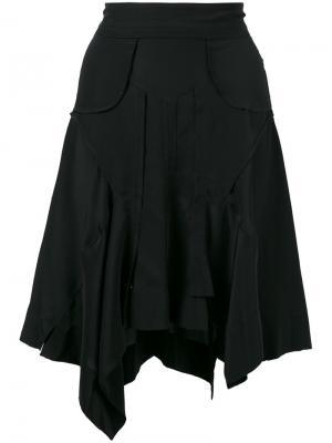 Асимметричная юбка с драпировкой Isabel Marant. Цвет: чёрный