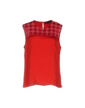 Блузка JONATHAN SAUNDERS. Цвет: красный